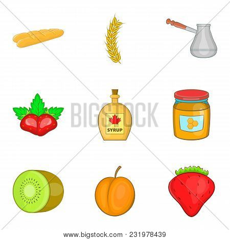Foodist Icons Set. Cartoon Set Of 9 Foodist Vector Icons For Web Isolated On White Background