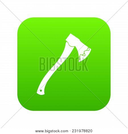 Axe In Blood Icon Digital Green For Any Design Isolated On White Vector Illustration
