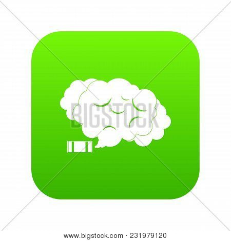 Tear Gas Icon Digital Green For Any Design Isolated On White Vector Illustration