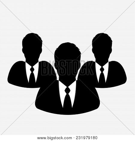 Businessmans Icon On White Background. Illustrator Vector.
