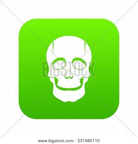 Singer Mask Icon Digital Green For Any Design Isolated On White Vector Illustration