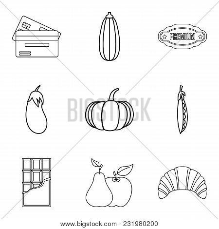 Cafe Of Healthy Food Icons Set. Outline Set Of 9 Cafe Of Healthy Food Vector Icons For Web Isolated