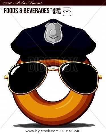 Alimentos bebidas #0011 - Donut.eps de polícia