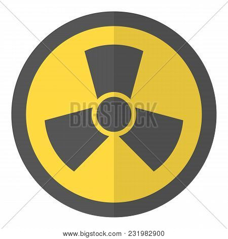 Radioactive icon. Flat illustration of radioactive vector icon for web poster
