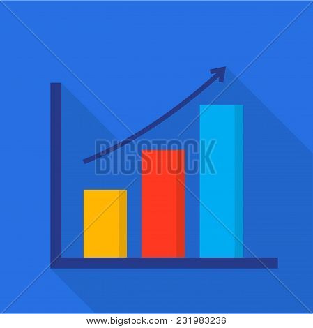 Progress Diagram Icon. Flat Illustration Of Progress Diagram Vector Icon For Web