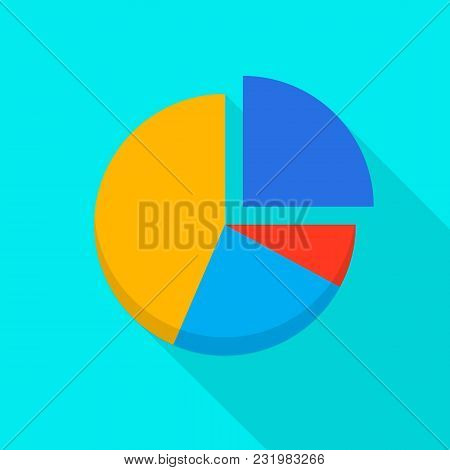 Pie Diagram Icon. Flat Illustration Of Pie Diagram Vector Icon For Web