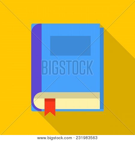 Closed Book Icon. Flat Illustration Of Closed Book Vector Icon For Web