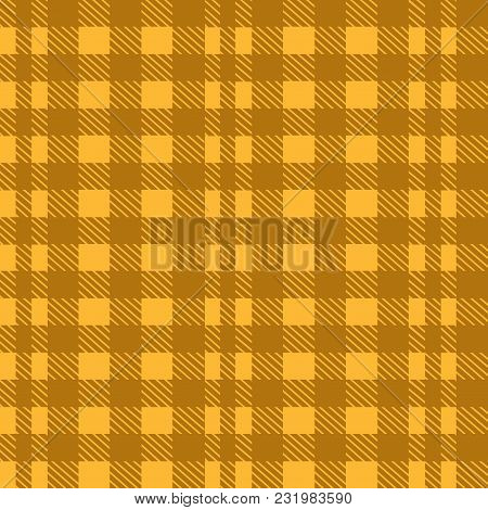 Orange Seamless Tablecloth Vector. Seamless Traditional Tablecloth Pattern