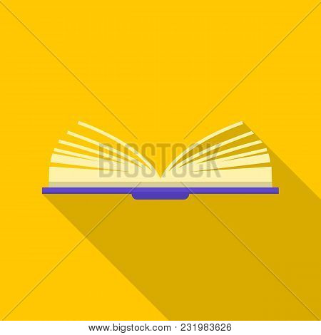 One Book Icon. Flat Illustration Of One Book Vector Icon For Web