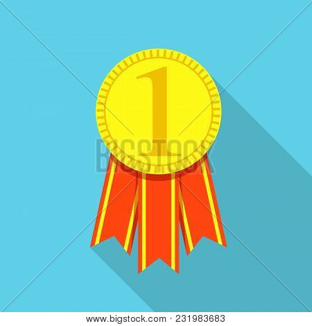Medal Icon. Flat Illustration Of Medal Vector Icon For Web
