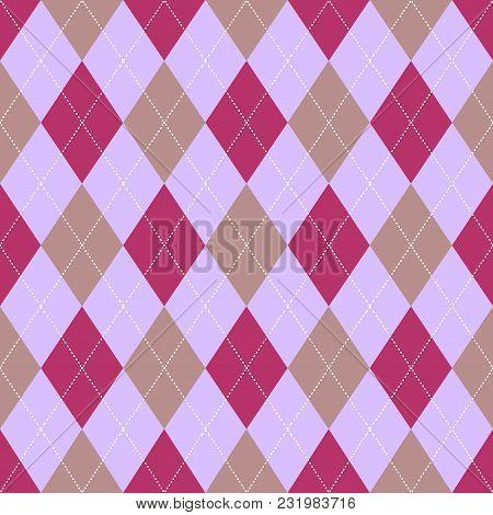 Seamless Argyle Pattern. Retro Purple Color .vector