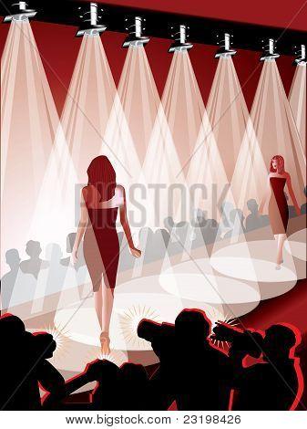 Fashion show vector