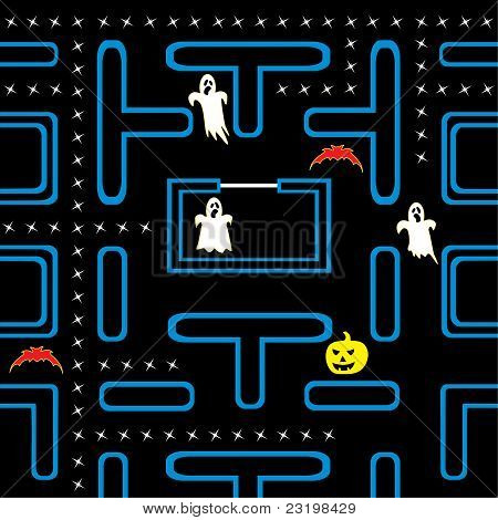 Halloween arcade game vector