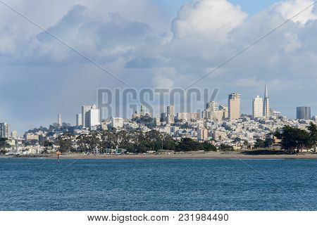 San Francisco Bay Area View To The City From The Water Side