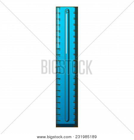 Plastic Ruler Icon. Cartoon Illustration Of Plastic Ruler Vector Icon For Web