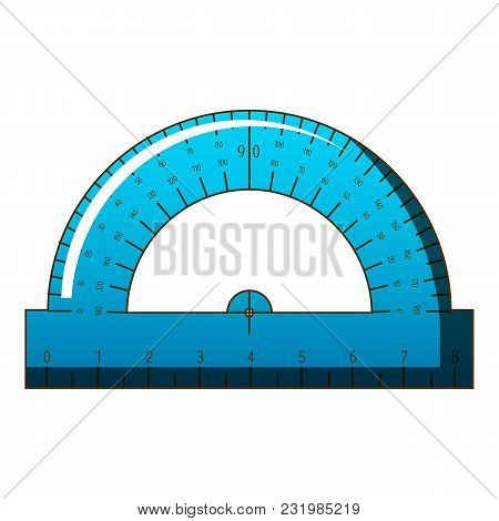 Maths Ruler Icon. Cartoon Illustration Of Maths Ruler Vector Icon For Web