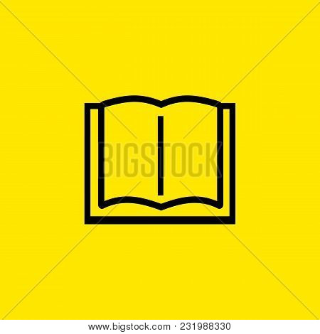 Line Icon Of Open Book. School, Library, Audiobook. Reading Concept. Can Be Used For Web Pictograms,