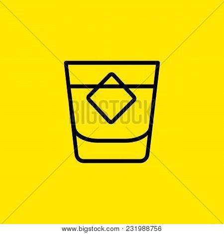 Icon Of Shot Glass. Whiskey, Rum, Brandy. Whiskey And Bar Concept. Can Be Used For Topics Like Menu,