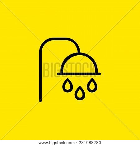 Icon Of Shower Head. Refreshment, Washing, Spa. Bathroom Concept. Can Be Used For Topics Like Hygien