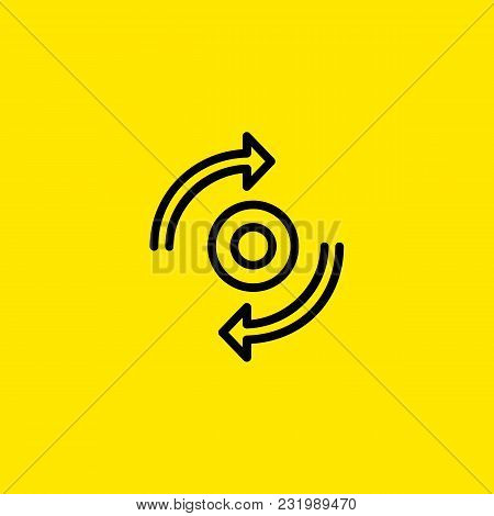 Icon Of Synchronization Sign. Round, Cycling, Transferring. Reload Concept. Can Be Used For Topics L