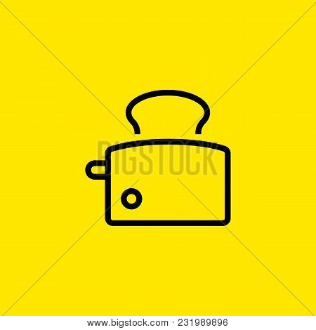 Icon Of Toast Maker. Bread, Heat, Toaster Home Equipment Concept. Can Be Used For Topics Like Electr