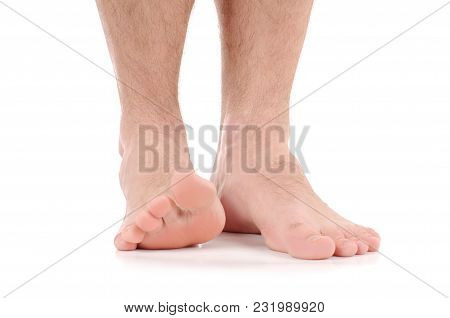 Feet Itching.  Infection Of The Feet Caused By Fungus.
