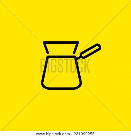 Icon Of Turkish Coffee. Cezve, Pot, Making Coffee. Morning Concept. Can Be Used For Topics Like Unfi