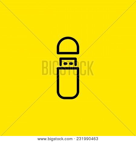 Icon Of Usb Flash Drive. Data, Memory, Storage. Data Transfer Concept. Can Be Used For Topics Like M