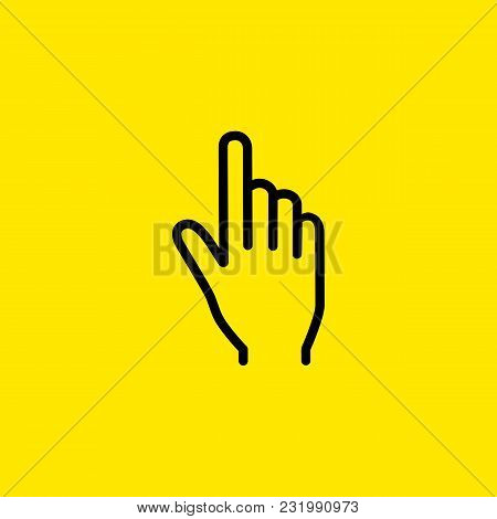 Icon Of Index Finger. Pointing, Click, Cursor. Gesture Concept. Can Be Used For Topics Like Computer