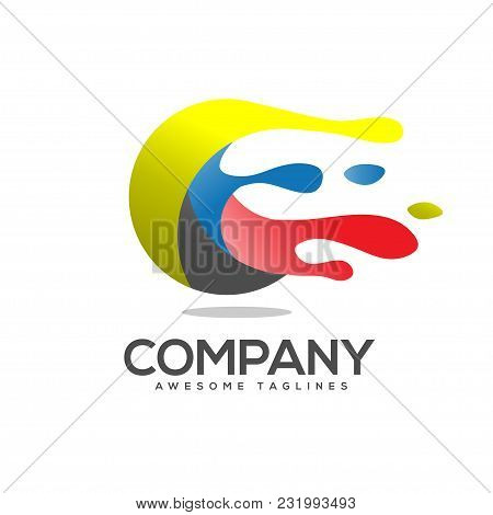 Art Circle Colorful Vector Logo. Abstract Colorful Circle Logo. Dynamic Splash Liquid Shape. Abstrac
