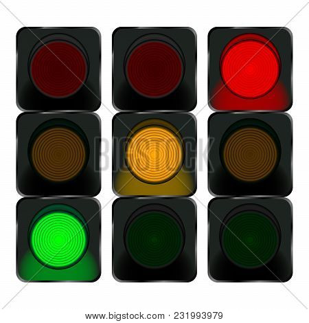 traffic lights, red vector & photo (free trial) | bigstock  bigstock