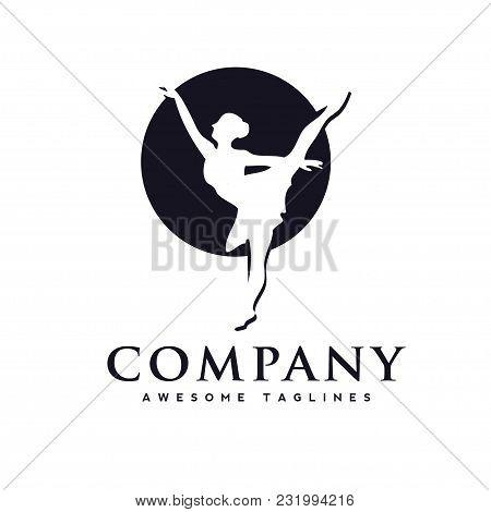 Dance Club Logo,ballerina In Dance Logo. Perfect For Ballet School Or Studio, Dance Studio, Performa
