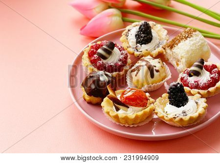 Mini Dessert Tarts Sweet Pastries For The Holiday