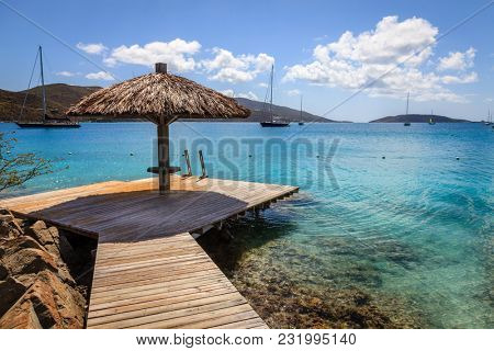 Tropical resort in BVI
