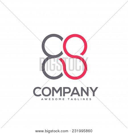 Letter Es Circle Connect Logo Concept , Es Letter Circle Flat Color Logo Design