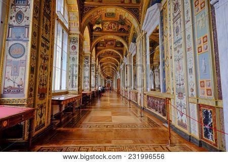 Interior Of Hermitage Museum In St. Petersburg