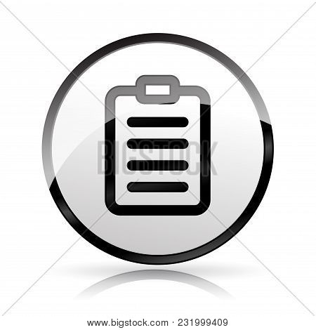 Illustration Of Clipboard Icon On White Background
