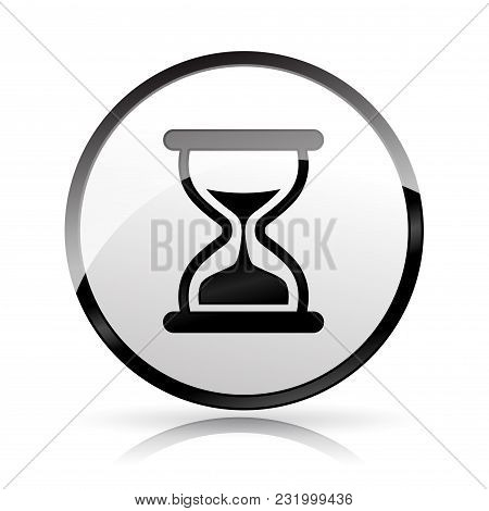 Illustration Of Time Icon On White Background