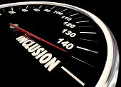 Inclusion Speedometer Participation Involvement 3d Illustration poster