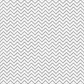Vector seamless pattern. Trendy modern geometrical texture with regularly repetition thin lines zigzag shapes, small dots. Contemporary design. poster