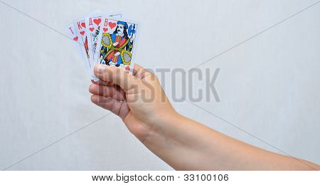 The Hands, Cards.
