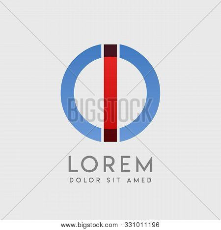 Io Logo Letters With Blue And Red Gradation