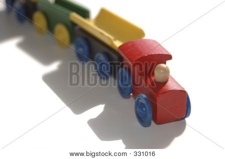 Childs Wooden Toy Train Horizontal
