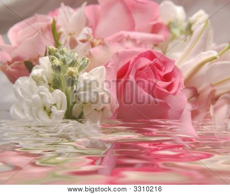 Wedding Flower Bouquet In Water