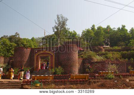 Chattrapati Shivaji Statue and Garden near Ponda Goa. poster