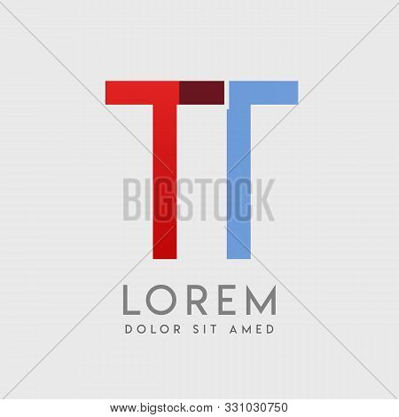 Tt Logo Letters With Blue And Red Gradation