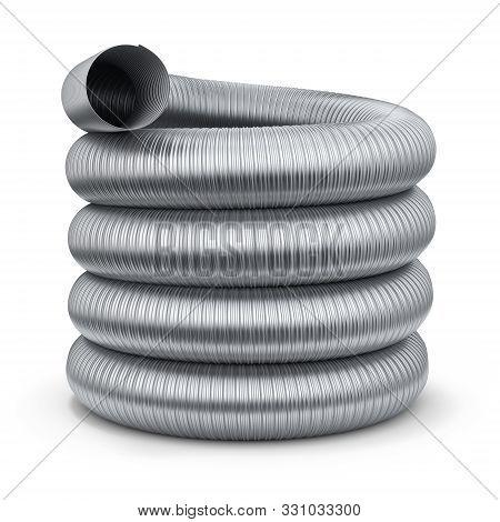 Flexible Chimney Flue Liner Duct Pipe - 3d Illustration