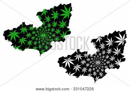 Lam Dong Province (socialist Republic Of Vietnam, Subdivisions Of Vietnam) Map Is Designed Cannabis