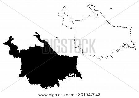 Ngabe-bugle Comarca Province (republic Of Panama, Provinces Of Panama) Map Vector Illustration, Scri