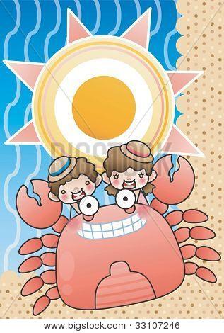 Happy Summer Vacation : vector illustration
